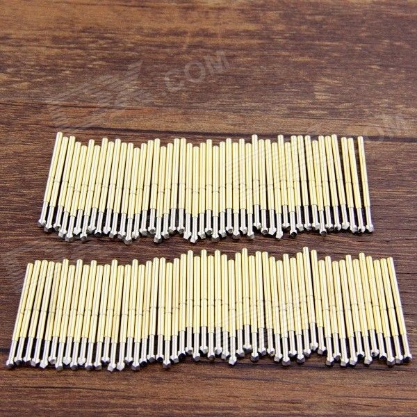 P125-Q1 Gold-plated Copper Probes Set for Test / Research - Silver + Golden (100 PCS)