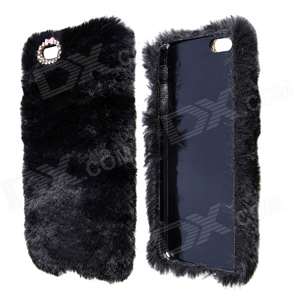 Stylish Plush Fur Style PC Protective Case for IPHONE 6 PLUS 5.5 - Black iface mall for iphone 6 plus 6s plus glossy pc non slip tpu shell case black