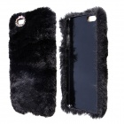 "Stylish Plush Fur Style PC Protective Case for IPHONE 6 PLUS 5.5"" - Black"