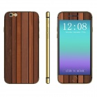 "Stylish Batten Pattern Front + Back Decorative Sticker Set for IPHONE 6 PLUS 5.5"" - Wood"