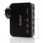ORICO DCAP-5U-BK 5 Ports USB Wall Charger for Tablet PC / Cellphone - Black (US Plugs)