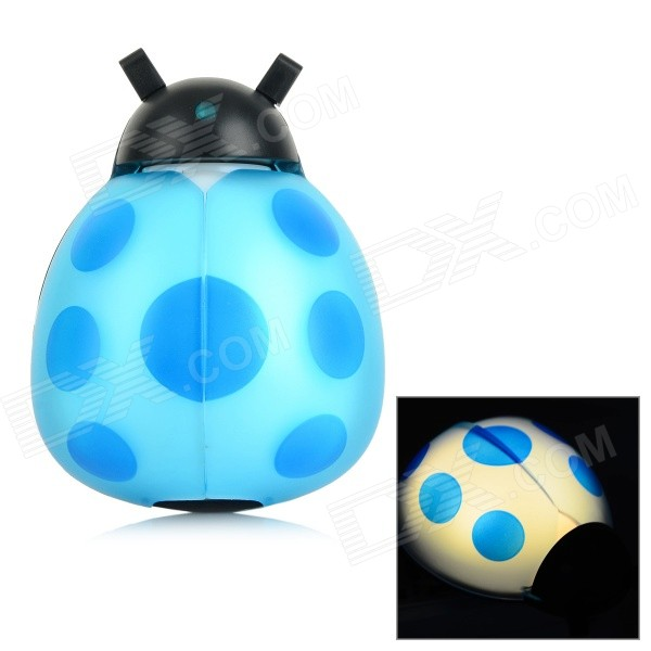 Beetle-shaped 1W 30lm Voice Control + Light Sensing Night Wall Lamp - Blue (AC 100~240V / US Plug) showcase presents blue beetle volume 1