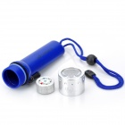 IPX8 Waterproof 200lm Cool White LED Diving Flashlight - Blue (4 x AA)