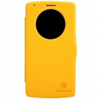 NILLKIN Fresh Series Protective Flip Open PU Leather + PC Case for LG G3 - Yellow