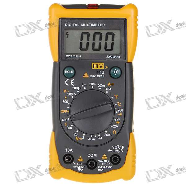 "H13 1.9"" LCD Handheld Digital Multimeter (Voltage + Current + Resistance + Temperature/ 1*6F22)"