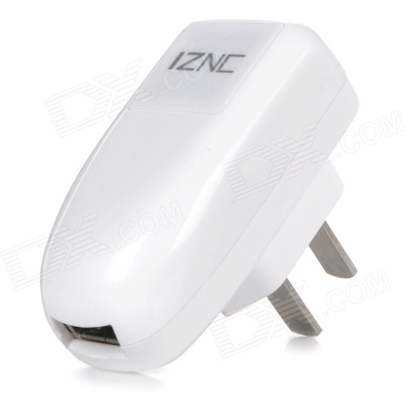 iznc znc-002 Universal Quick Charging 2A USB Charger / Power Adapter - White (100~240V / US Plug) 12mp trail camera gsm mms gprs sms scouting infrared wildlife hunting camera hd digital infrared hunting camera
