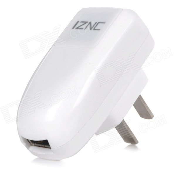iznc znc-015 Universal Quick Charging 1.5A USB Charger / Power Adapter - White (100~240V / US Plug) iznc znc 021 universal dual usb ac power charger adapter for iphone ipad white us plug