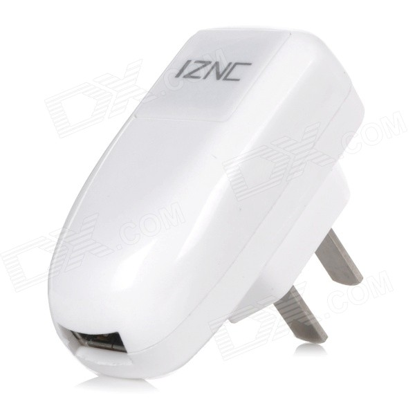 iznc znc-005 Universal Quick Charging 1A USB Charger / Power Adapter - White (100~240V / US Plug) iznc znc 021 universal dual usb ac power charger adapter for iphone ipad white us plug