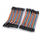 DIY 10cm 40-Pack Male to Male Dupont Line Wire - Multicolored