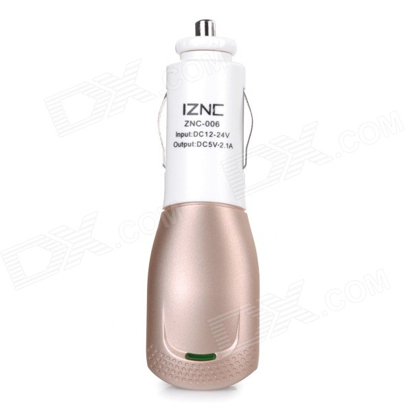 iznc znc-006 Universal Quick Charging 2A USB Port Car Charger Power Adapter - White + Gold fonemax x power cactus car charger w 3 port usb