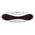 GL-2 Portable Rugby Shaped Wireless Bluetooth V2.1 Speaker w/ FM / TF Card Slot - White + Black