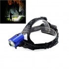 Kinfire 700lm 3-Mode White Outdoor LED Headlamp - Black + Blue (2 x 18650)