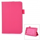 Protective Flip-Open Auto-Sleep PU Case Cover w/ Stand for Amazon Fire HD 6 2014 - Deep Pink