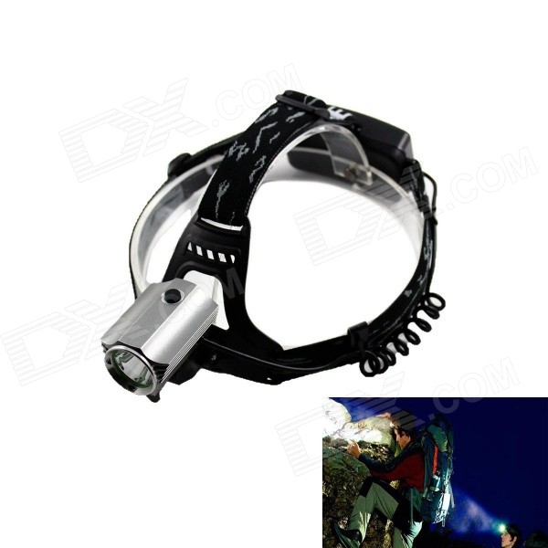 Kinfire 700lm 3-Mode White Outdoor LED Headlamp - Black + Silver (2 x 18650) 950lm 3 mode white bicycle headlamp w cree xm l t6 black silver 2 x 18650