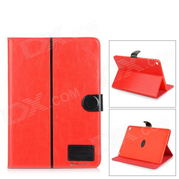 Protective Flip-Open PU + TPU Case w/ Stand / Card Slots for IPAD AIR 2 - Red protective flip open pu case w card slot stand for ipad air 2 red
