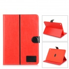 Protective Flip-Open PU + TPU Case w/ Stand / Card Slots for IPAD AIR 2 - Red