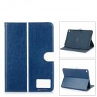 Protective Flip-Open PU + TPU Case w/ Stand / Card Slots for IPAD AIR 2 - Dark Blue
