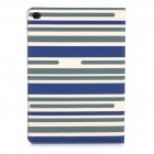 Protective Flip-Open PU Case Cover w/ Stand / Card Slots for IPAD AIR 2 - Blue + Beige + Multicolor