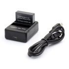 Smart Fast Dual USB Charger  + AHDBT-401 Battery for GoPro Hero 4 - Black