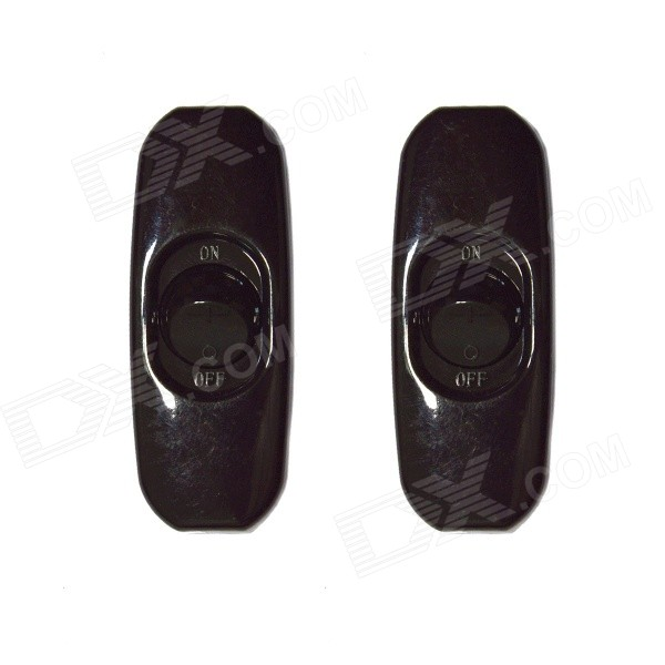 KS-32 DIY In-Line Light On/Off Rocker Switches - Black (2 PCS)