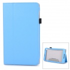 "Protective Flip-Open PU + Microfiber Case w/ Stand / Hand Strap for 8"" Huawei MediaPad M1 - Sky Blue"