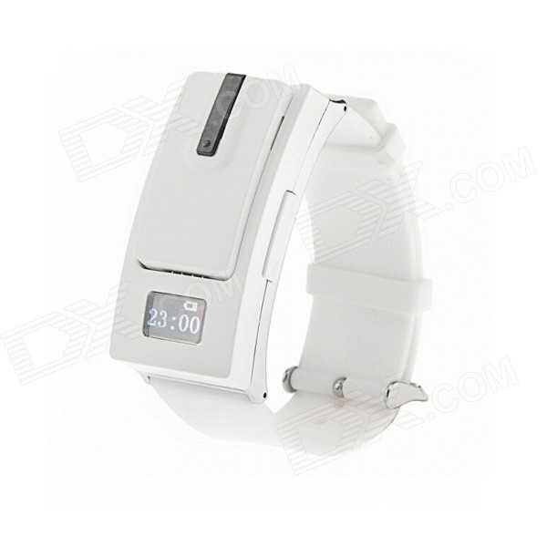 Separate Design Bluetooth V3.0 Sporty Watch Style Headset for Mobile Phones - White