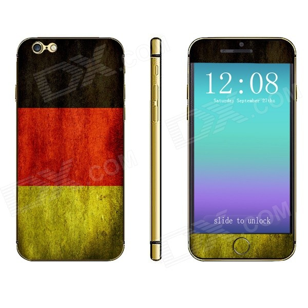 Stylish Contrast Color Front + Back Decorative Sticker Set for IPHONE 6 PLUS 5.5 - Multicolored