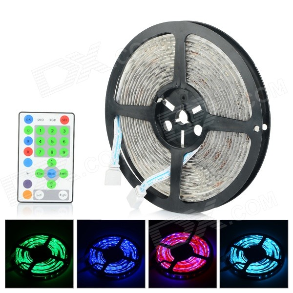 Water-resistant 72W 2300lm 270-SMD 5050 RGB LED Strip Light - White (5M / DC 12V)