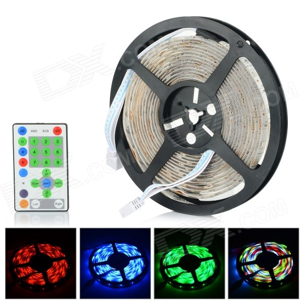G1-150 Water-resistant 36W 1200lm 150-SMD 5050 RGB LED Strip Light - White (5M / DC 12V)