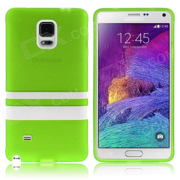 Hat-Prince Protective TPU Soft Case for Samsung Galaxy Note 4 N9100 - Green + White enkay quick sand style protective plastic back case for samsung galaxy note 4 n9100 blown