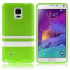 Hat-Prince Protective TPU Soft Case for Samsung Galaxy Note 4 N9100 - Green + White