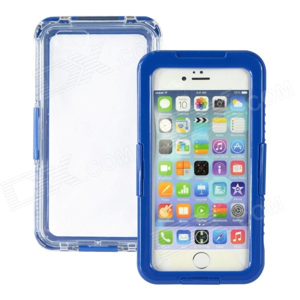 Waterproof Drop Protective Plastic + Silicone Shell Case for IPHONE 6 PLUS 5.5 - Blue iface mall for iphone 6 plus 6s plus glossy pc non slip tpu shell case black