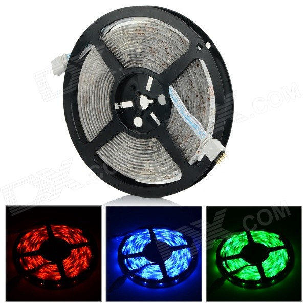 Water-resistant 36W 1200lm 150-SMD 5050 RGB LED Strip Light - White (5M / DC 12V)