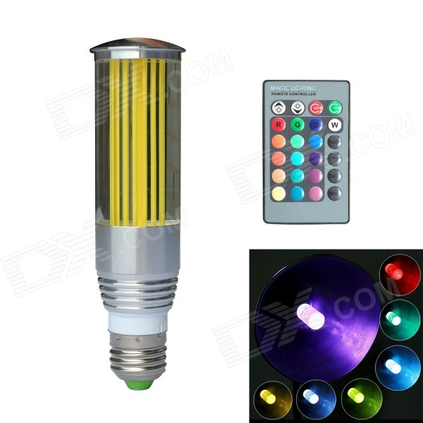 JIAWEN® 3W E27 LED RGB Light Remote Control Crystal Lamp - Silver + Transparent + Yellow (100~220V)