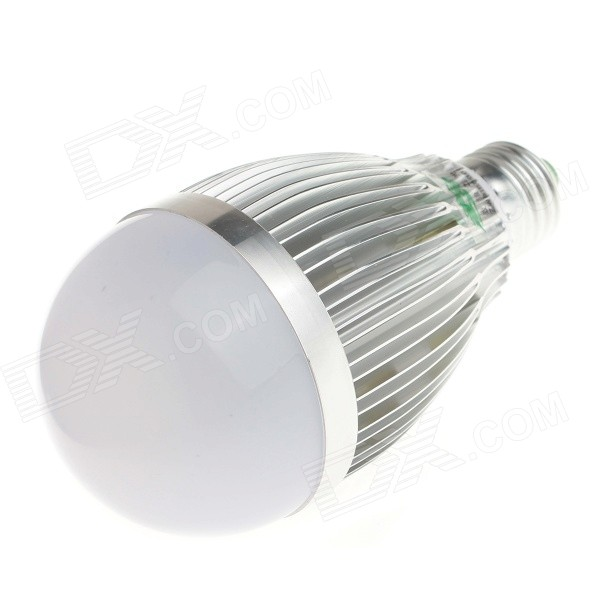 Zweihnder E27 9W 850LM 5500-6000K 18 x 2835 SMD White Light Bulb Lamp - Silver (AC 85-265V) lexing lx r7s 2 5w 410lm 7000k 12 5730 smd white light project lamp beige silver ac 85 265v
