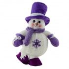 SMKJ 941B Lovely Christmas Snowman Doll Gift - Purple + White