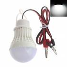 Zweihnder Alligator Clip 3W 280lm 6-LED Cool White Lamp Bulb (DC 12V)