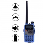 Baiston 588Plus 1.5'' 8W 2-Way Radio Dual Band UHF/VHF Walkie Talkie Set - Blue + Black