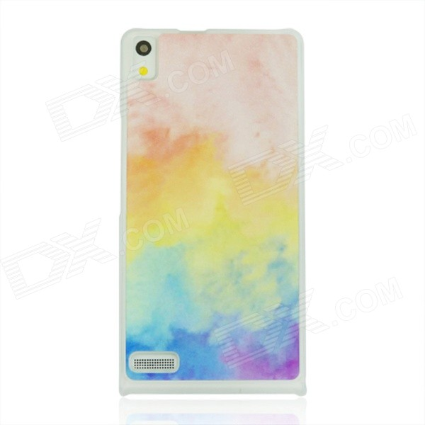 Colour of The Cloud Pattern Plastic Back Cover Case for Huawei P6 - White Pink the security issues of cloud computing over normal
