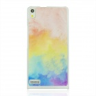 Colour of The Cloud Pattern Plastic Back Cover Case for Huawei P6 - White Pink