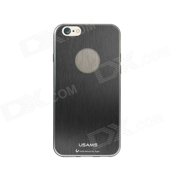 USAMS IP6JS02 Protective TPU Back Case for IPHONE 6 - Black usams perfume style tpu back case for iphone 6 4 7 brown multi color