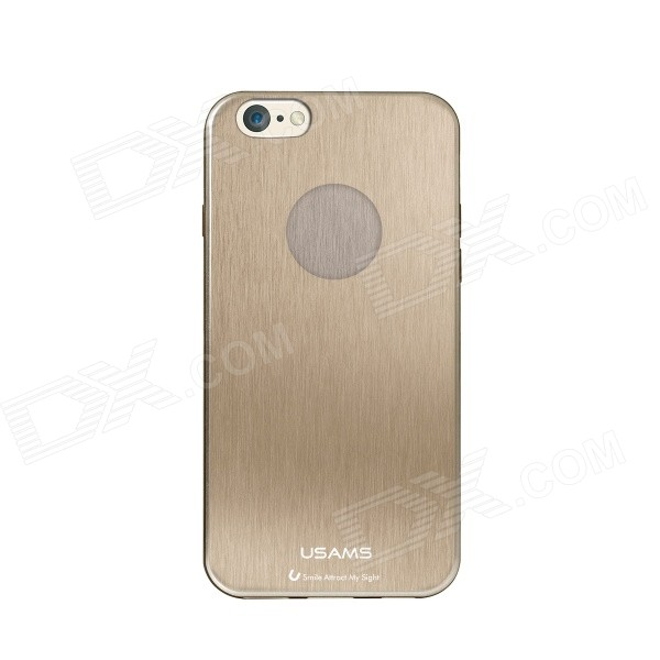 USAMS IP6JS02 Protective TPU Back Case for IPHONE 6 - Golden usams perfume style tpu back case for iphone 6 4 7 brown multi color