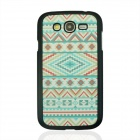 Geometric Pattern Plastic Back Case for Samsung Galaxy Grand i9082 - Light Green
