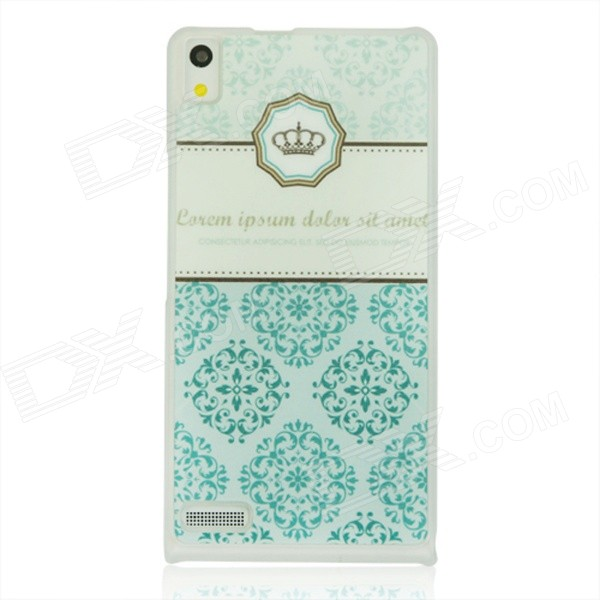 Royal Crown Pattern Plastic Back Cover Case for Huawei P6 - Light Green cartoon rabbit pattern plastic back cover case for huawei p6 white deep pink