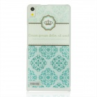 Royal Crown Pattern Plastic Back Cover Case for Huawei P6 - Light Green