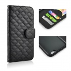 "Angibabe Plaid Texture PU Leather Case Cover w / korttipaikka iPhone 6 PLUS 5.5 ""- Musta"