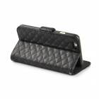 "Angibabe Plaid Texture PU Leather Case Cover w/ Card Slot for IPHONE 6 PLUS 5.5"" - Black"