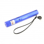 5mW 532nm Dual Spot Modes Green Light Aluminum Alloy Laser Pointer Pen - Blue (1 x 18650)