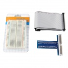 Solderless 400 Point Breadboard + 40Pin Cable + 40Pin GPiO for Raspberry Pi 2 Model B & B+