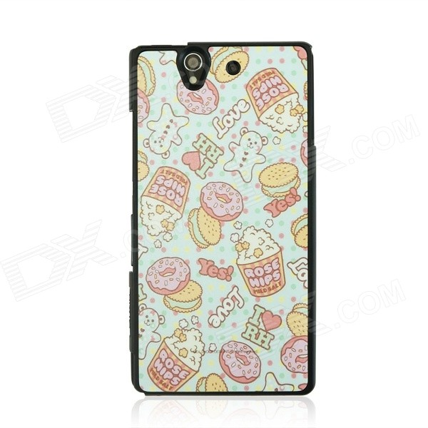 все цены на Protective Patterned PC Back Case Cover for Sony Xperia Z / L36H - White + Blue + Multicolor онлайн